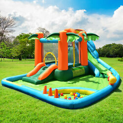 Inflatable Bounce House Kids Water Splash Pool Jumping Castle Without Blower $469.98