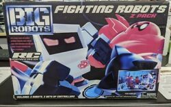 BIG ROBOTS Fighting Robots 2 Pack 2 RC Powered Robots amp; 2 Real Time Controllers $100.00
