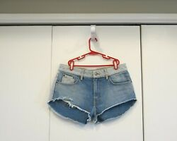 Carmar Womens Shorts Blue Denim Short Two Toned Trendy Size 27 $17.00