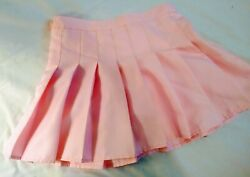 Solid Pink Pastel Pleated Japanese Style Kawaii Short Skirt for Teen Girls $12.00