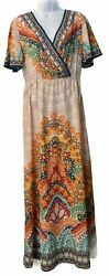 FLYING TOMATO M Maxi Boho Dress Coverup Stretch Waist *adorable amp; excellent* $22.50
