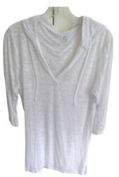 Balance Collection By Marika White Hooded Beach Coverup Large Lot T80 $12.00