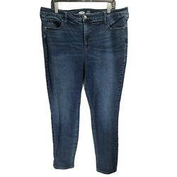 Old Navy High Waisted Rockstar Super Skinny Size 18 Plus Size Women#x27;s Jeans $10.99