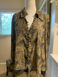 free people womens floral long sleeve top Size Small $20.40