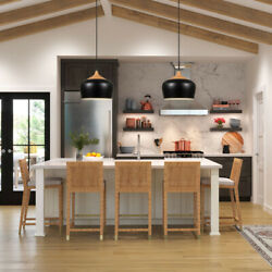 Wood Pattern Dome Industrial Ceiling Hanging Lampshade Lantern Lighting No Bulb $65.89