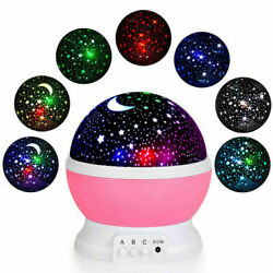 Starry Night Sky Projector Lights Kids Baby Gift Moon Star Lamps Rotating Cosmos $9.15