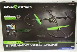 Sky Viper V2400HD Streaming Video Drone with Remote Controller Black $72.99