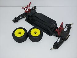Unknown Model Mini RC Sprint Car Touring Car Roller Slider Chassis INCOMPLETE $59.99