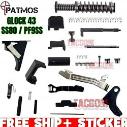PATMOS Lower amp; Slide Parts For Glock 43 Frame 9mm amp; P80 PF9SS SS80 Polymer 80 $314.95
