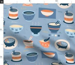 Japanese Noodle Bowl Novelty Food Spoonflower Fabric by the Yard $22.00