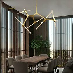 Contemporary Chandelier Pendant Light Branch Frosted Glass Fixture Living Room $155.99
