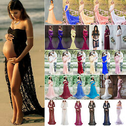 Maternity Lace Dress Pregnant Photography Photo Props Womens Maxi Long Dresses $17.85