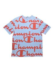 Vintage 2000s Champion Sportswear Heritage Line All Over Print Spell Out T Shirt $40.00
