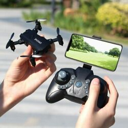 S107 Foldable Mini Drone RC 4K FPV HD Camera Wifi FPV Drone Selfie RC Helicopter $27.59