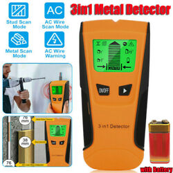 Stud Finder Wall Metal Detector AC Wire Scanner Wood Checker LCD Display Q2B1 $15.03