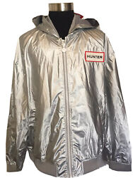 Hunter for Target Silver Hooded Windbreaker Jacket 2XL XXL Men#x27;s New With Tags $49.99