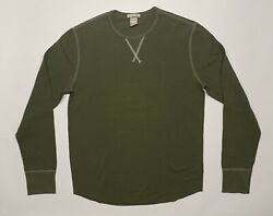 Champion Todd Snyder Long Sleeve Thermal Shirt Made In Canada Green $60.00