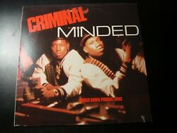 BOOGIE DOWN PRODUCTIONS CRIMINAL MINDED LP RECORD VG $29.99