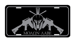 Tactical Molon Labe Aluminum Metal Novelty Car License Plate Sign Tag $9.99