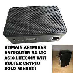 Bitmain AntMiner AntRouter R1 LTC ASIC Litecoin WiFi Router Crypto Solo Miner $149.99
