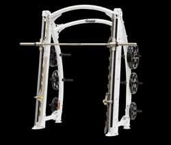 Hoist Smith Machine Commercial WHITE Preowned Strength Commercial Gym Equipment
