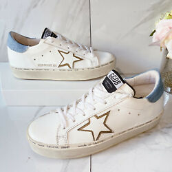 Golden Goose Hi Star Womens Low Top Sneaker White Leather Denim EU 38 *Limited $409.97