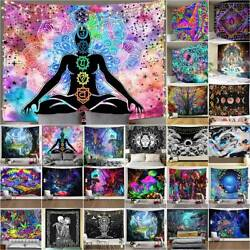Hippie Trippy Psychedelic Tapestry Wall Hanging Living Room Blanket Art Decor $13.49