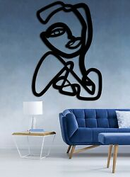 Abstract Women Wood Art Figure Framed For Decorating Homes and Offices $45.00