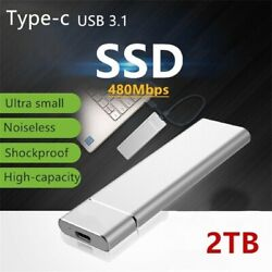 Portable SSD 2TB External Solid State Hard Disk TDrives USB 3.0 For PC Laptop $28.99
