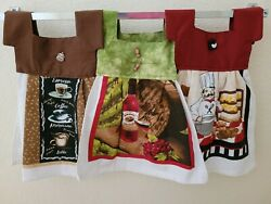 Handmade kitchen themed hanging hand towels $11.00