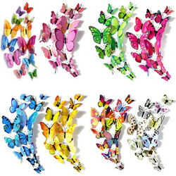 3D Butterfly Wall Stickers Removable Mural Decals DIY Art Home Decoration Kids $4.68
