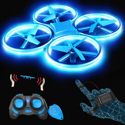Kids LED Mini Drone Toy Altitude One Key Control RC Quadcopter G sensor Mode $29.99