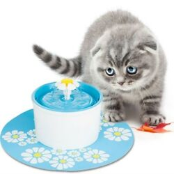 2 x Flower Style Filter Fountain Pet For Automatic Cat Dog Water Drinking us $8.19
