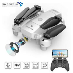 SNAPTAIN Mini WiFi Foldable RC Drone HD Camera FPV RC Quadcopter Voice Control $43.99