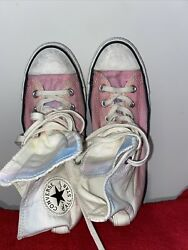 Converse Chuck Taylor All Star WHITE High Top SIZE 8 PLEASE READ $25.00