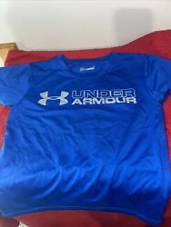 Under Armour Boys Size 6 HEAT GEAR Shirt Blue $8.00