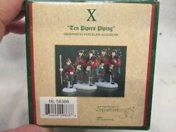 Dept 56 Dickens Village 12 Days of Christmas quot;10 Pipers Pipingquot; #56 58386 $69.95