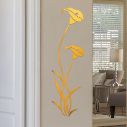 Flower Wall Sticker Home Mirror Art Removable Acrylic Mural Decal Room Decor HOT $10.06