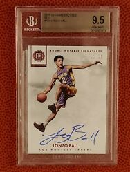 Lonzo Ball 2017 18 Encased Red 25 Rookie Notable Signatures BGS 9.5 Auto 10 RC