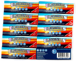 Elements 1 1 4 Size Ultra Thin Rice Rolling Paper with Magnetic Closure 10Pack $14.97