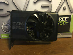 EVGA Nvidia GeForce GTX 750Ti 2GB Gaming GPU Comes with box $109.99