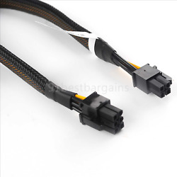 New GPU 6pin Male PCI E to Motherboard CPU 4pin Male Graphics Card Power Cable $7.99