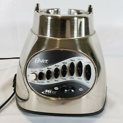 Oster Blender 12 Speed Chrome Model 6800 564A REPLACEMENT BASE PART Only Tested $24.99