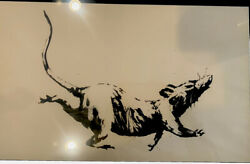 Banksy GDP Rat. Framed For Preservation. $2850.00