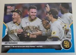 2021 Topps Now #58 JOE MUSGROVE *BLUE PARALLEL #d 08 49* 1st No No for Padres $100.00