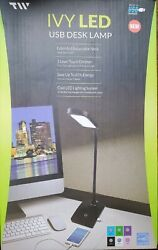 2 TWO LED Desk lamps IVY20 40 . USB phone charging port. GREAT FOR OFFICES $25.00
