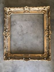 """French Antique Louis XV ornate carved gilded frame 20""""x 24"""" $359.00"""