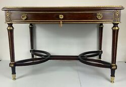 Antique French desk 19th century very fine mahogany with gilt bronze decoration $4800.00