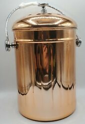 Stainless Steel 1 Gallon Compost Bin Copper Countertop Container for Indoor Use $48.88