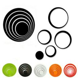 5X Modern Home Decor 3D Circles Ring Wall Stickers DIY Indoor Living Room Wall C $9.21